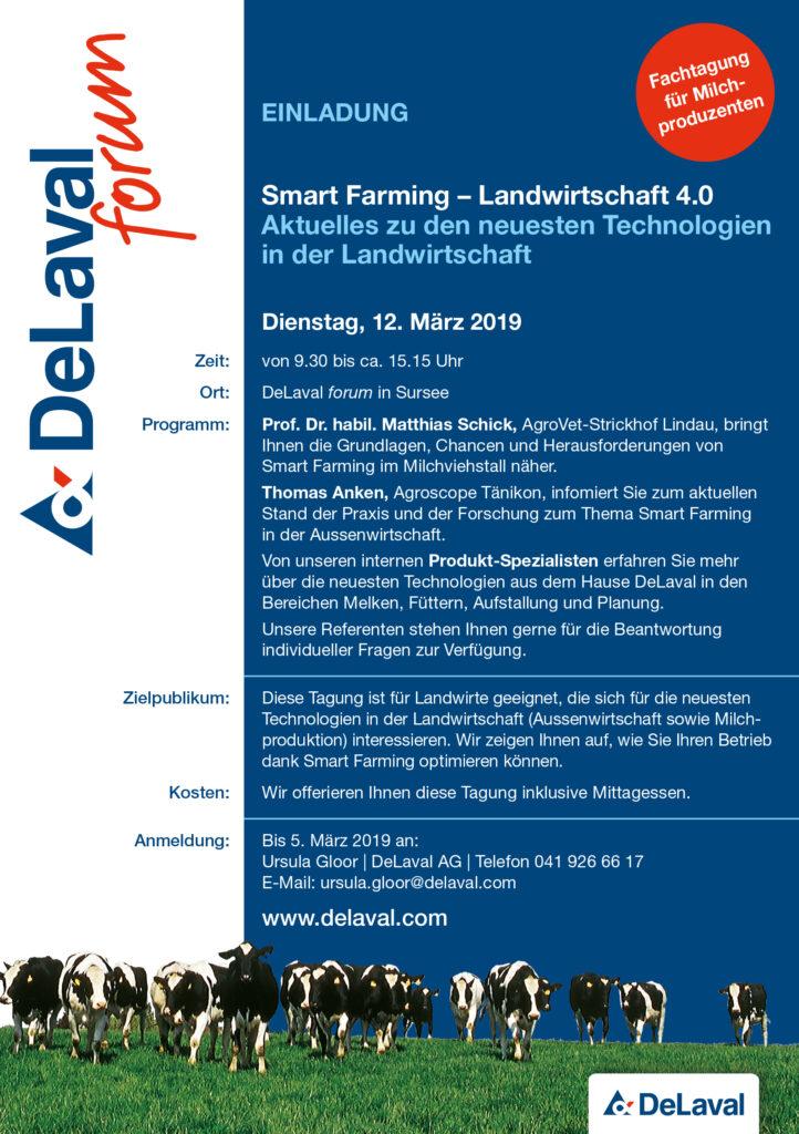 Einladung Smartfarming DeLaval